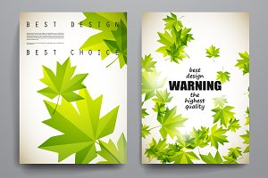 Beautiful brochures in Autumn style