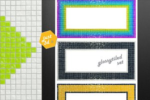 Tiled frames funky set