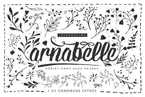 Arnabelle Script Font + 65 Extras