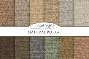 Natural Burlap - Linen  Textures