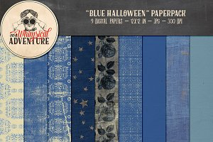 Blue Halloween Papers