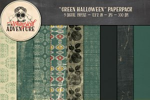 Green Halloween Papers