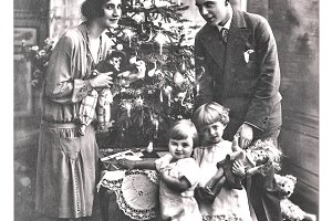 Vintage Family Christmas Photo