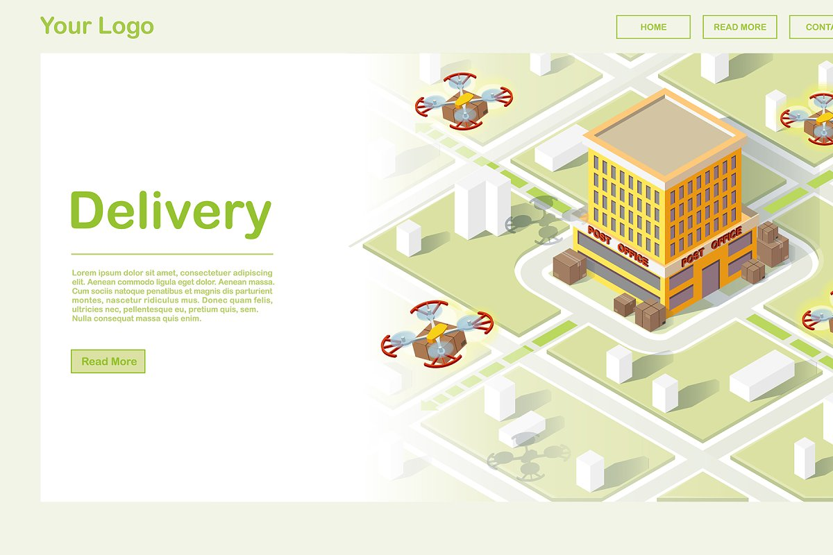 Smart air delivery website template
