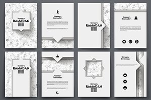 Ramadan templates. Doodle background