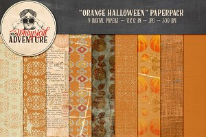 Orange Halloween Papers