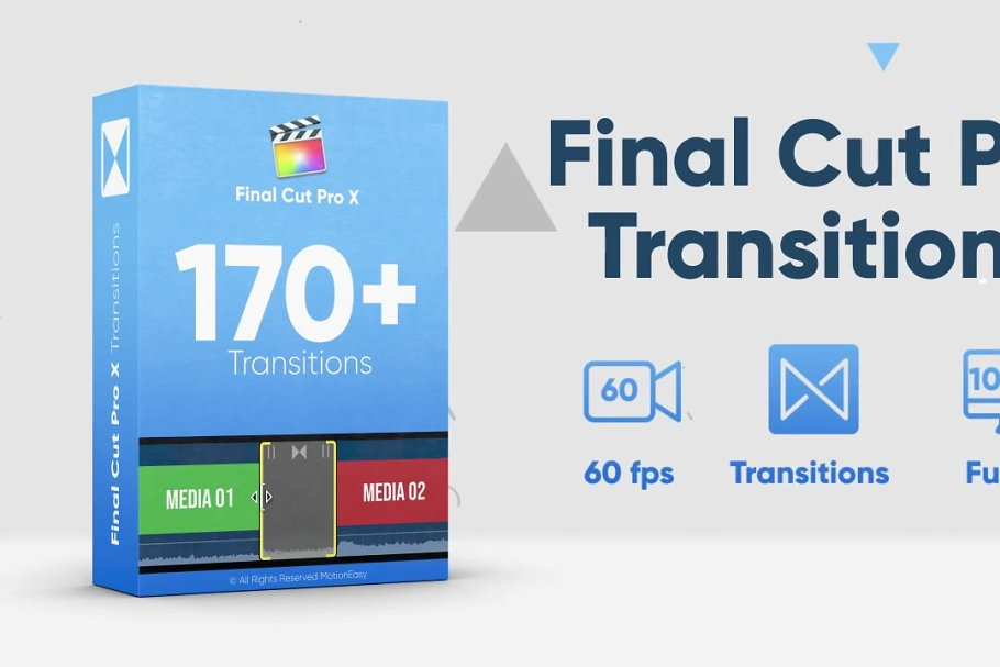 170+ Final Cut Pro Transitions Pack ~ Templates ~ Creative
