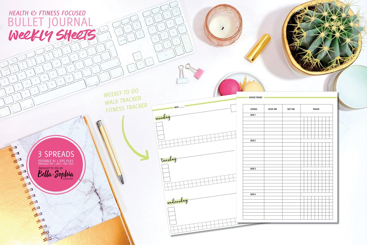 Health & Fitness Weekly Sheets