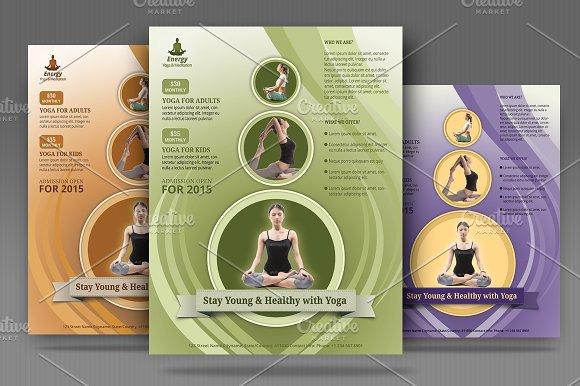 yoga meditation simple flyer flyer templates creative market