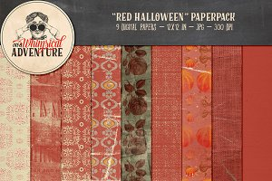 Red Halloween Papers