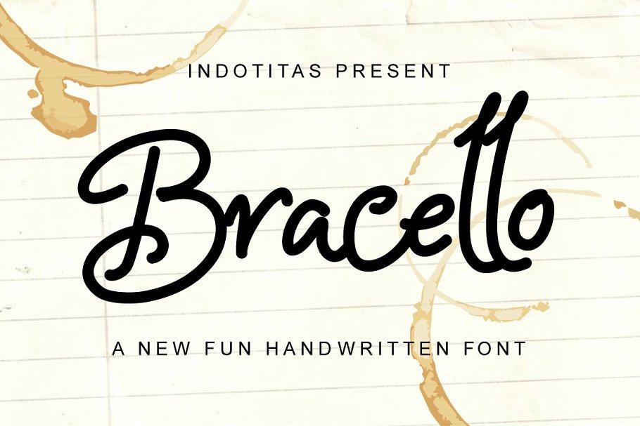 Bracello - A Fun Handwritten