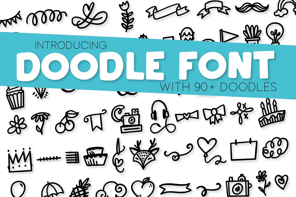Doodle Font - With 90 Dingbats