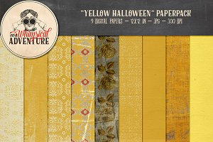 Yellow Halloween Papers