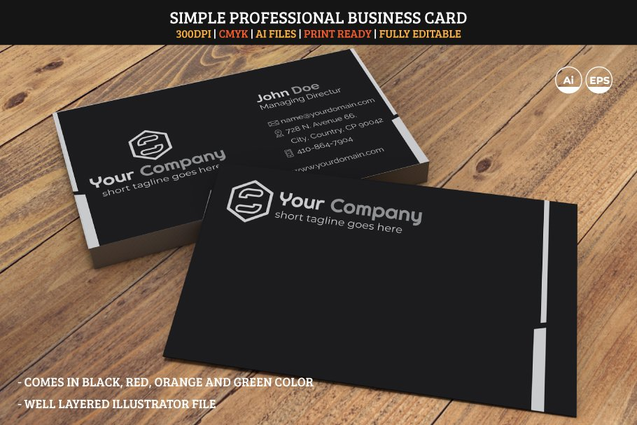 Simple Professional Business Card 05
