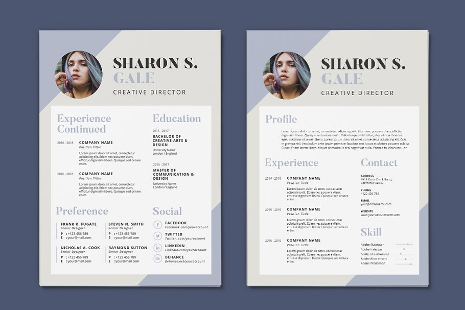 Minimalist CV Resume AI and PSD 12