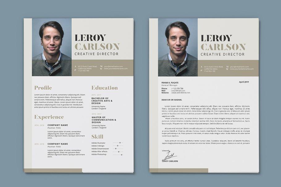 Minimalist CV Resume AI and PSD 13