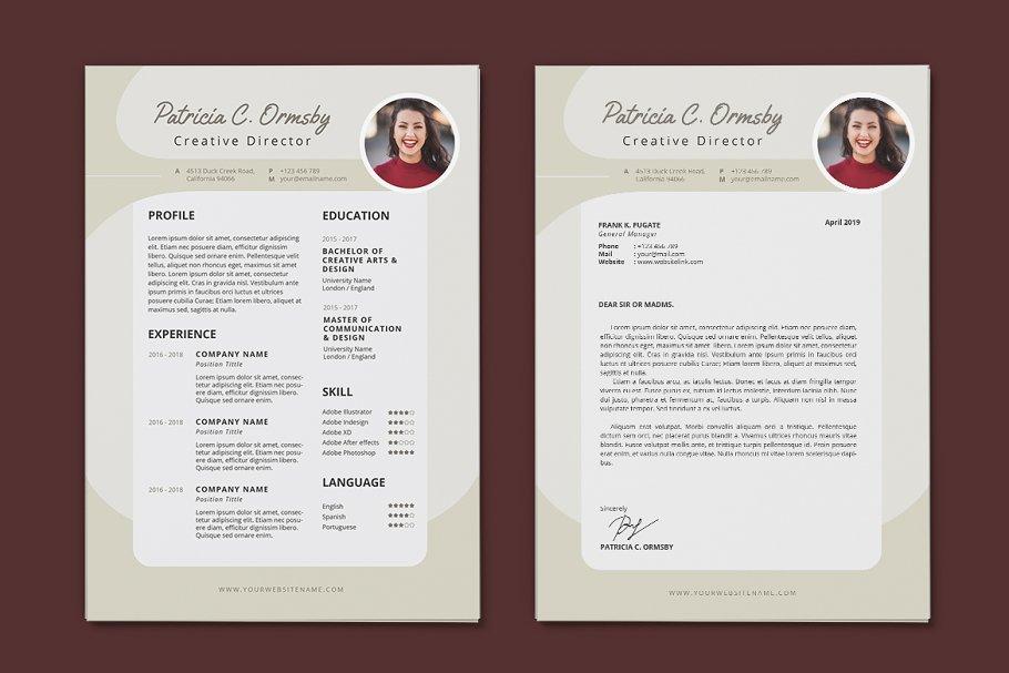 Minimalist CV Resume AI and PSD 14