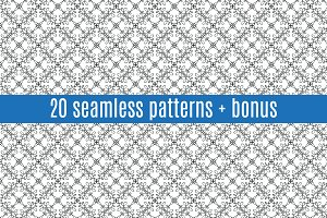 20 Seamless Patterns+Bonus