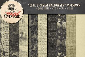 Coal & Cream Halloween Papers