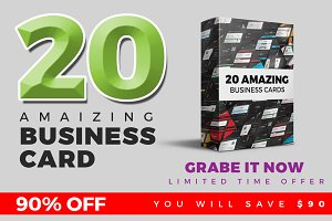 20 Business Card Bundle