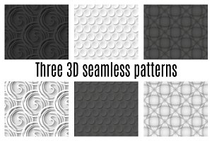 Three 3D patterns