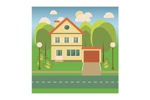 Flat Style Cottage