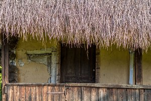 Thatched Roof Rural Home
