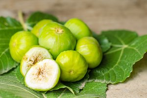 Ripe white/green  figs.