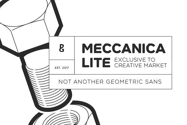 Meccanica [LITE] 18 Font Family