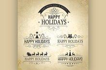 Happy Holiday decoration Set