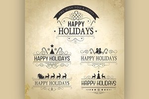 Happy Holiday decoration Set