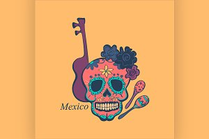 Mexican label and emblem