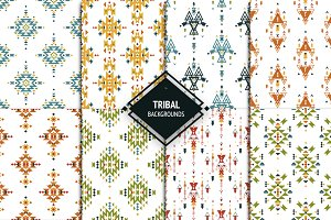 8 Tribal backgrounds+labels
