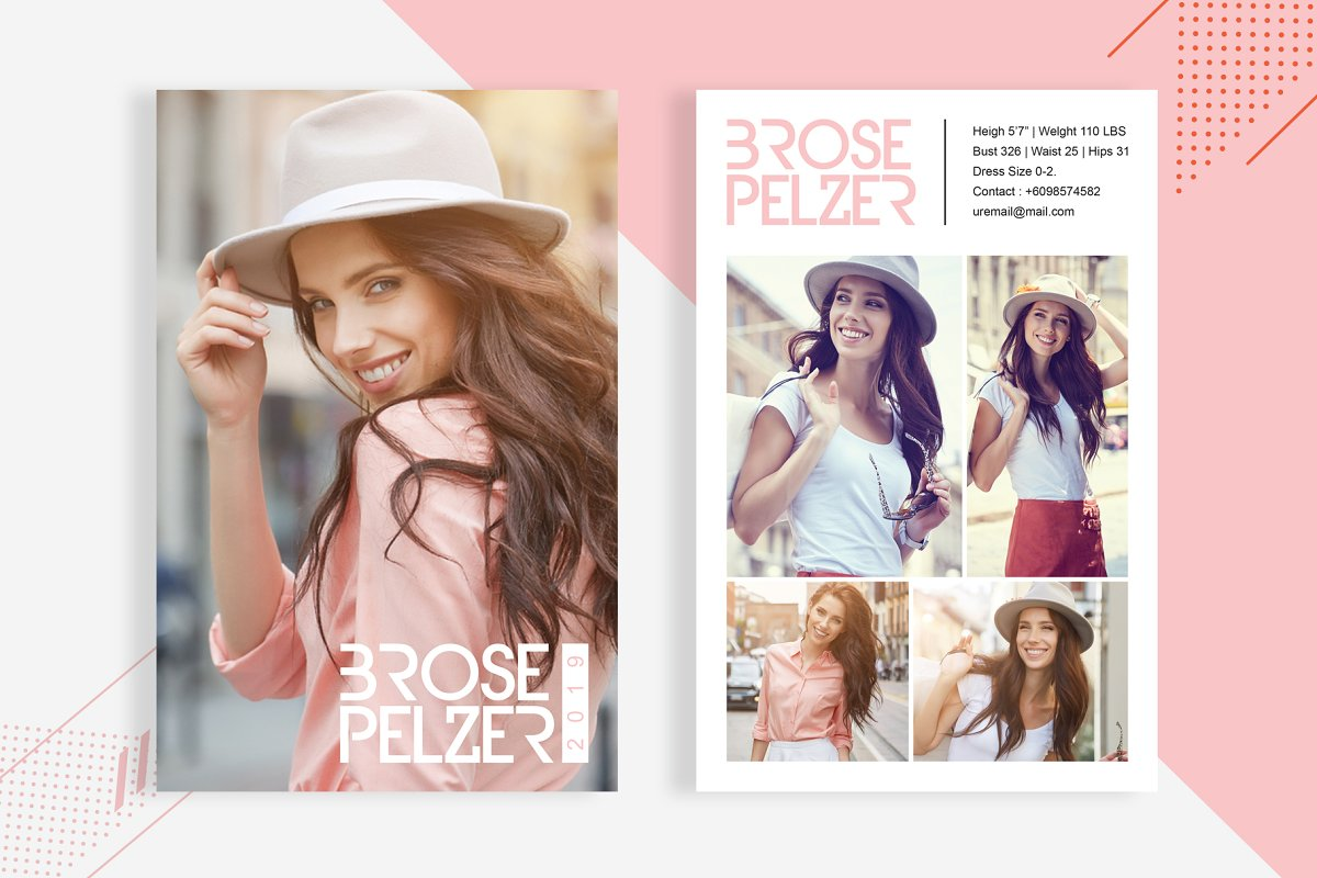 3 Fashion Comp Card Template