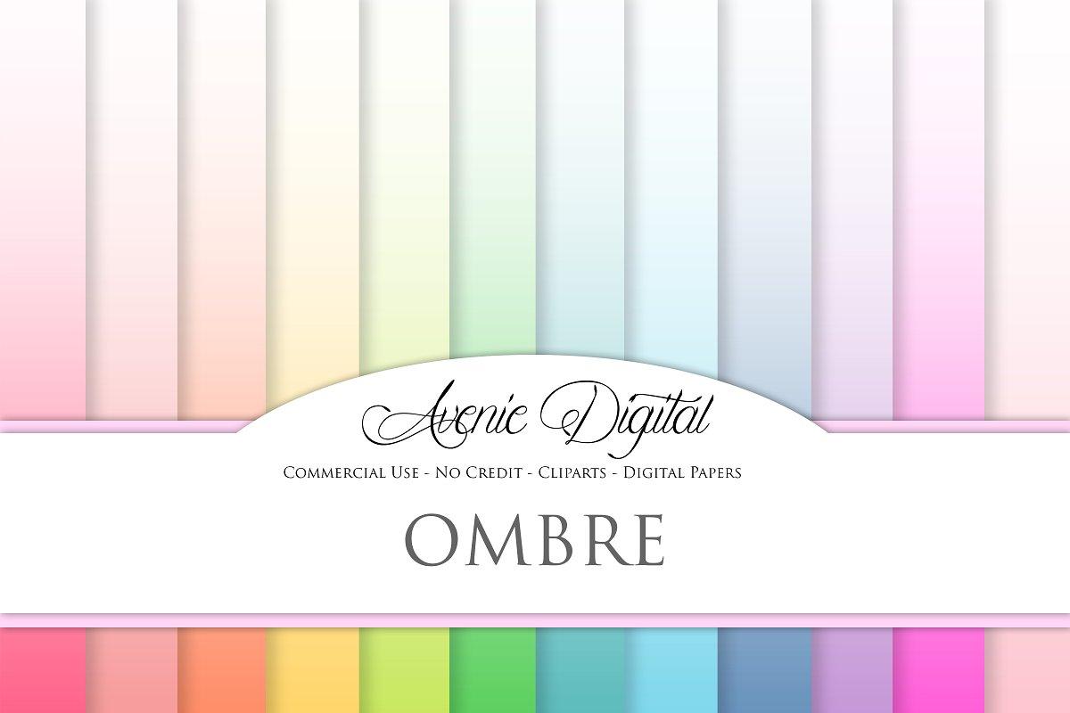 Ombre Digital Paper Backgrounds