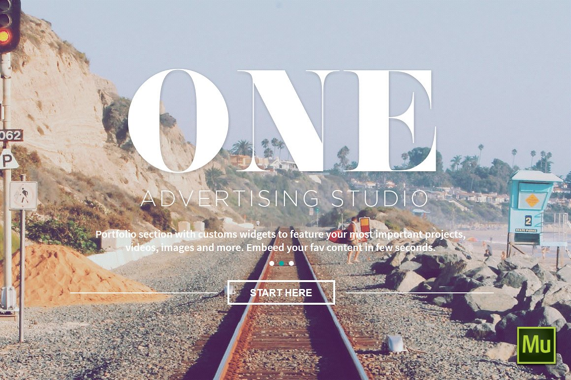 One adobe muse theme website templates creative market for Adobe muse templates free