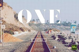 One - Adobe Muse Theme
