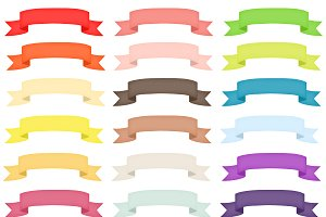 Colorful Ribbon Banner Clipart