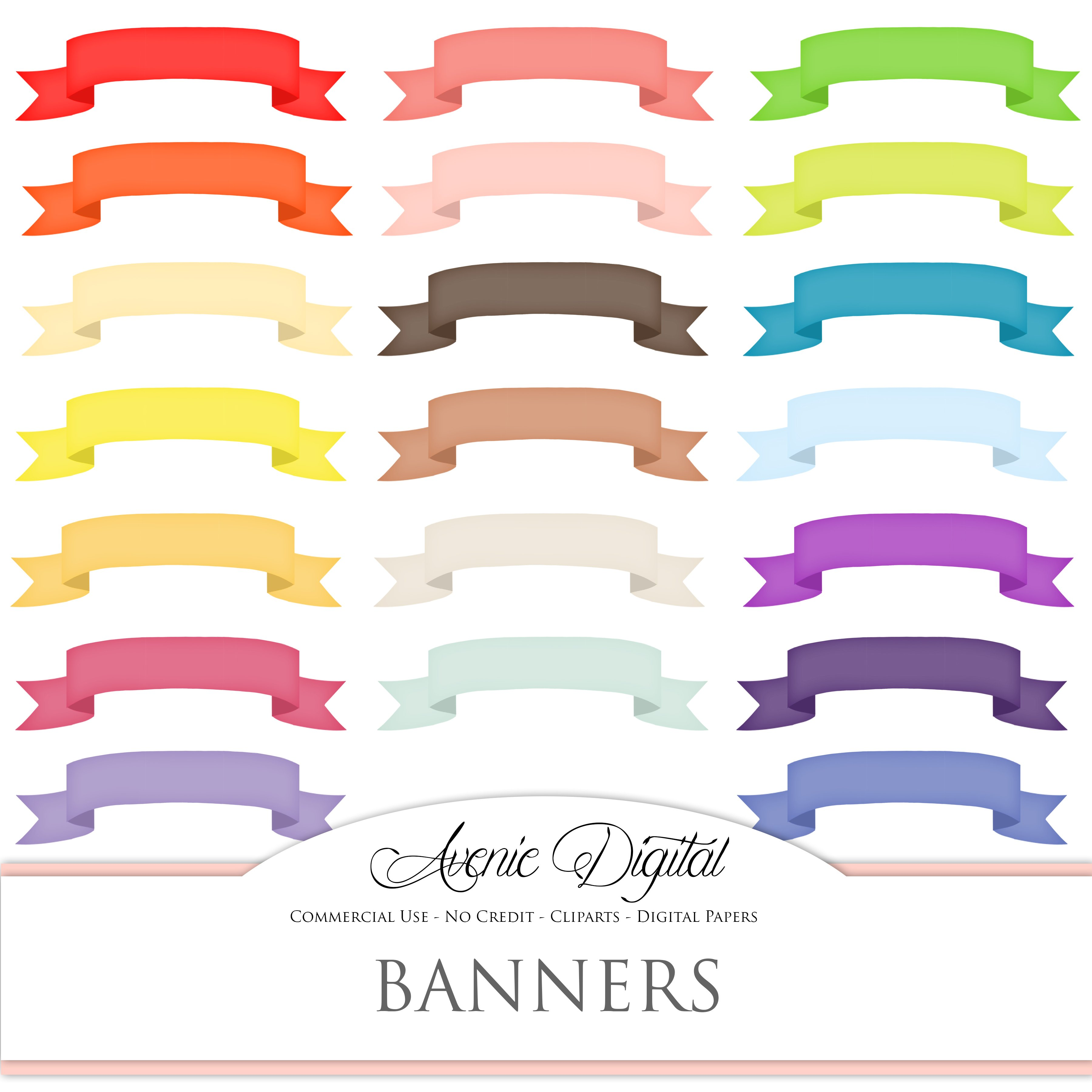 Top Colorful Ribbon Banner Clipart ~ Illustrations ~ Creative Market UW52