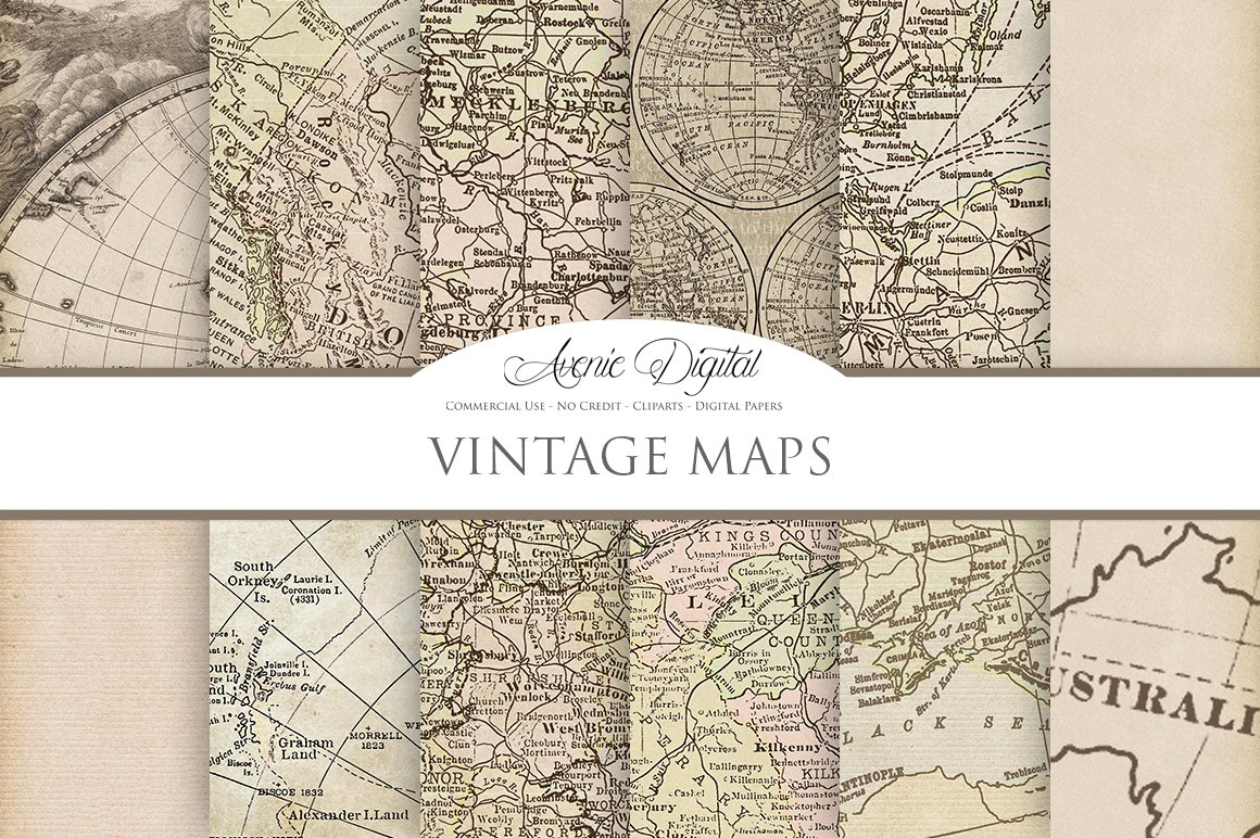 vintage maps digital backgrounds textures creative market