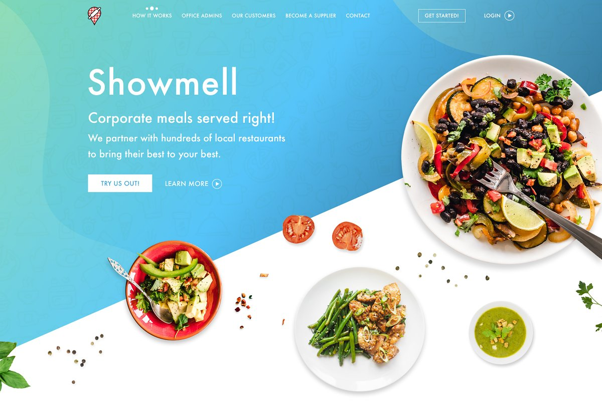 PSD Design - Food onePage