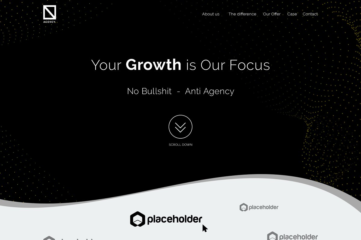 Agency onePage Design