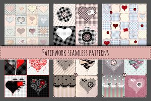Set of seamless patchworks
