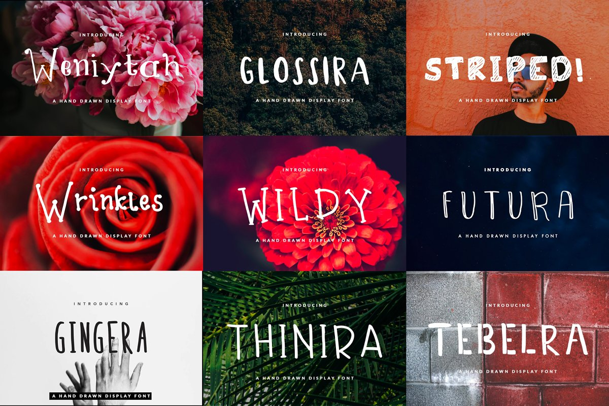 26 Handwritten Fonts Bundle in Display Fonts - product preview 1