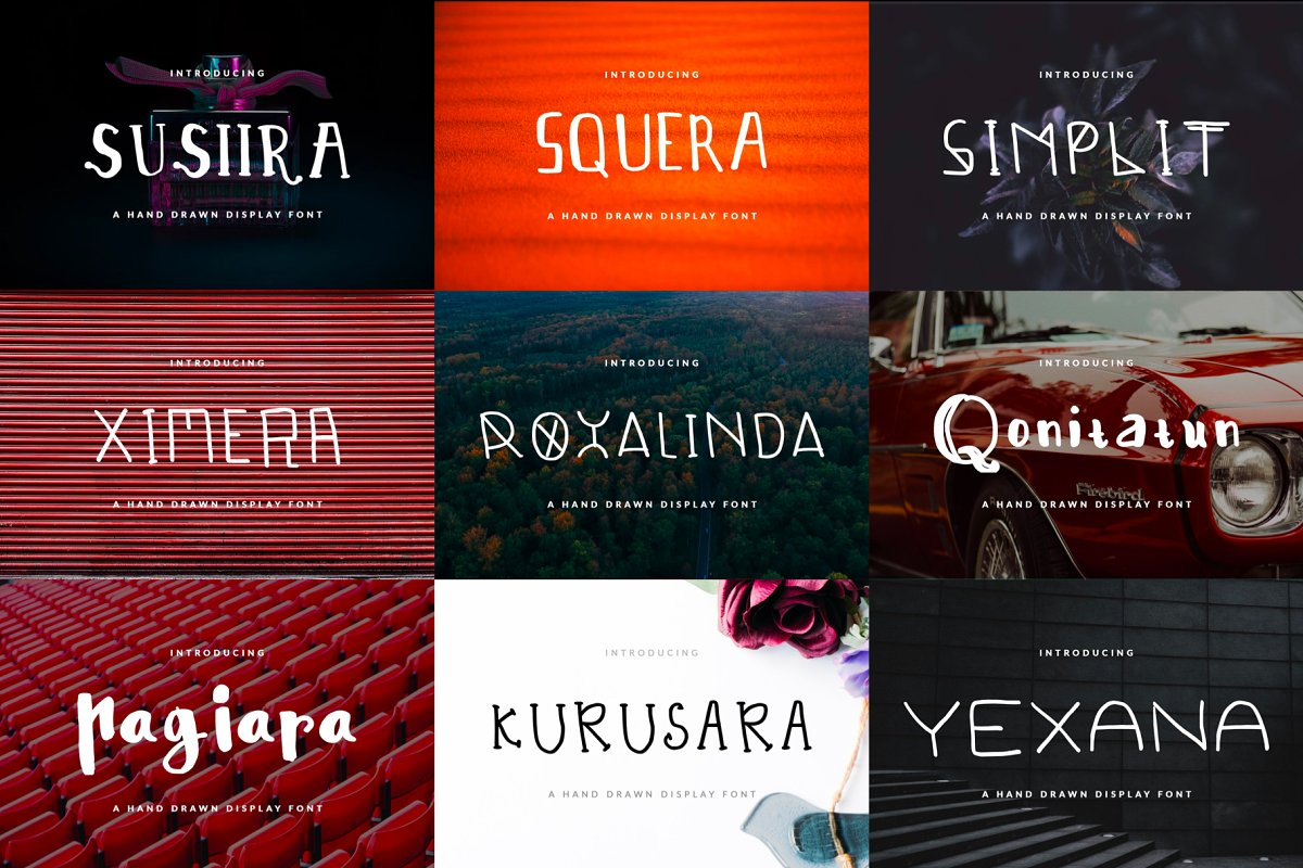 26 Handwritten Fonts Bundle in Display Fonts - product preview 2