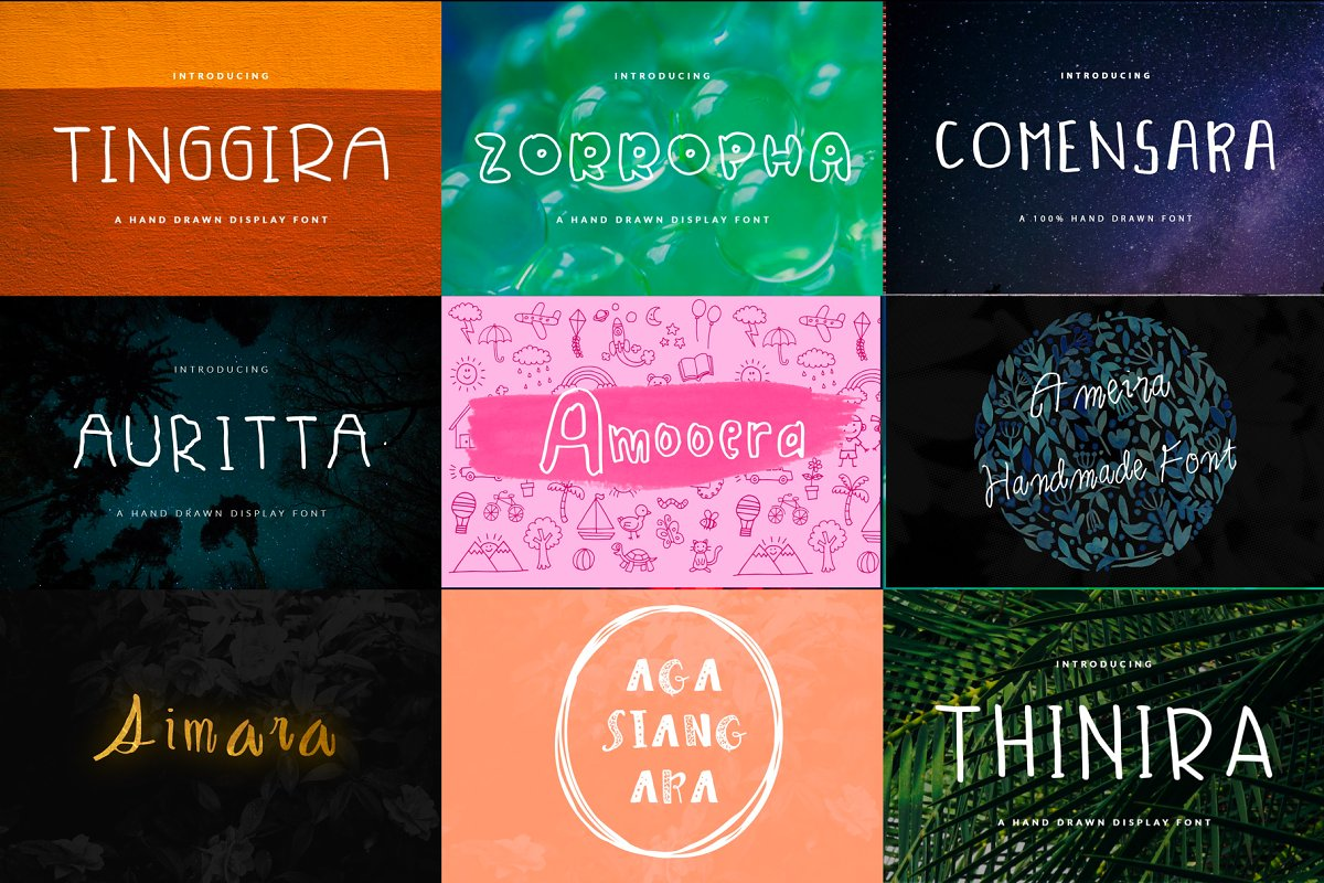 26 Handwritten Fonts Bundle in Display Fonts - product preview 3