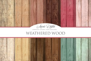 Weathered Wood Digital Paper Texture