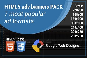 HTML5 adv banner template