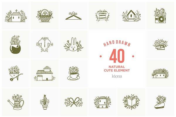 Hand Drawn Logo Element