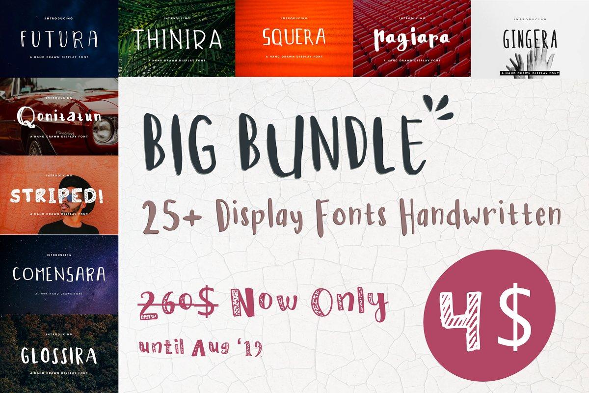 26 Handwritten Fonts Bundle